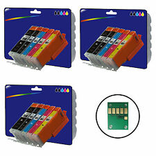 3 Sets Compatible Printer Ink Cartridges for Canon Pixma MG5450 Printer [550/1]
