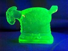 VASELINE URANIUM GLASS SPARK PLUG BARNEY GOOGLES HORSE          (( ID145453 ))