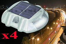 4 Pack Solar Pathway Path Light Driveway Dock Marker