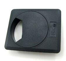 Square with Dia 60 mm DESK CABLE TIDY OUTLET PLASTIC ROUND CIRCLE GROMMET INSERT