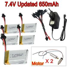 5pcs 650mAh battery+Charger+4x Motor for JJRC H8C H8D DFD F182 F183 RC Drone