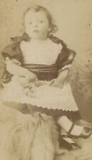 YOUNG GIRL HOLDING TOY. CDV, ST ALBANS. ENGLAND.