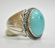 Navajo Turquoise Sterling Silver Ring Men Women Size 11.7