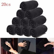 20x Microfiber Towel Wash Detailing Cleaning Cloths Soft Black Car Window Home