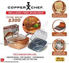 "Danoz Copper Chef 6 Piece Set 9.5"" + Warranty✓ Authentic✓ Bonus Pan included"