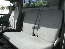 FRONT + REAR GREY FUR SEAT COVER FIT MITSUBISHI CANTER DUAL CAB 1999 - 2000