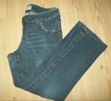 Venezia Womens Jeans Size 16 Jeweled Front Pockets Zippered Back Bootcut Jeans