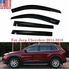 For Jeep Cherokee 2014-2019 Vent Window Visors Shades Visor Rain Guard Smoke ABS