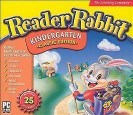 Reader Rabbit Kindergarten -- Origional Edition (PC, 1998) brand new