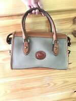 "DOONEY & BOURKE  All Weather ""Duck"" Pebbled Leather Shoulder Satchel Vintage"