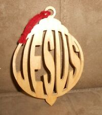 """Wooden Religious """"Jesus"""" Christmas 5.25"""" Holiday Ornament - Excellent Condition"""