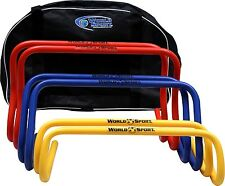 """Set 6"""" 9"""" 12"""" multi color hurdles w/carrying bag step ABC speed agility training"""
