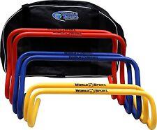 "Set 6"" 9"" 12"" multi color hurdles Free bag step ABC speed agility training Aid"