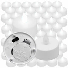60 QTY COOL WHITE Flickering LED TEA LIGHTS Luminary Bags Etc!