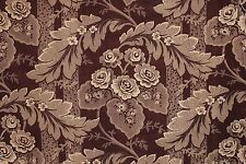 Fabric PURPLE Floral French Antique Cotton Roller Printed Material 1820 Textile