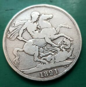 1821 George IV silver crown coin #242