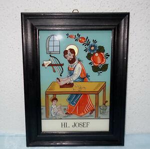 "Hinterglasbild - ""Hl. Josef"" - Sandl Art - Handmalerei"