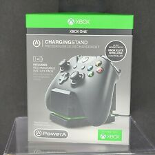 PowerA Charging Stand for Xbox One Black with 1100 mAH battery pack NEW SEALED