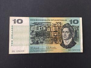 $10 Coombs/Randal 1967 scarcest $10 signature gF/aVF CV=$125!