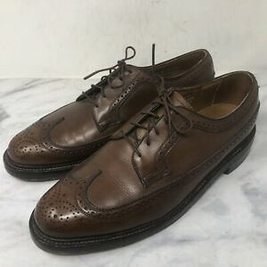 Vintage Florsheim Imperial Kenmoor 93602 Brown Leather Brogue Derby Size 9.5 D