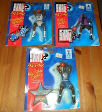 NEVER OPENED!! COMPLETE SET Of 6 Kenner SHAQ ATTACK Figurines BRAND NEW