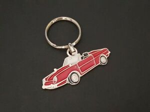 Key Ring Profile Fiat And Seat 850 Spider (Red)