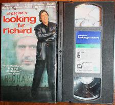 LOOKING FOR RICHARD (vhs) Alec Baldwin, Al Pacino. VERY GOOD COND. Rare. NR