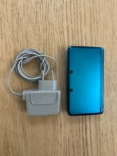 NINTENDO 3DS CONSOLE AQUA BLUE WITH OFFICIAL CHARGER & STYLUS