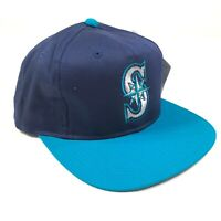 Seattle Mariners Snapback Hat Cap Navy Blue Bright Teal Youth Kids Size New