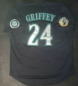 Ken Griffey Jr Jersey Seattle Mariners RARE 2010 Retirement Patch Stitched NEW