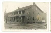 RPPC Hotel Hyman WINFIELD PA Union County Pennsylvania Real Photo Postcard