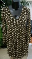 BCBG MaxAzria multi-colored flowered stretchy bell sleeve dress size M