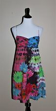 Desigual Dress Size 38 US Small Size 6 Multicolor 100% Cotton Sundress