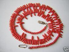 Koralle Kette Kugeln & Stäbe Mittelrot 16,2 g/Kugeln Ø 0,3 cm/Stäbe 0,9 cm Coral