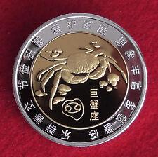 MEDAGLIA segno zodiacale Segni Zodiacali Cancro Granchio Cinese Cina iscrizione COA in tedesco