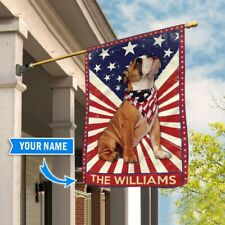 [Custom name] Bulldog Polyester Flag Outdoor Indoor Banner