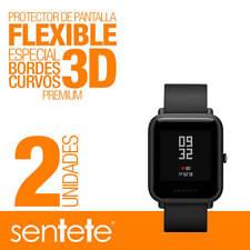 Sentete® 2x Xiaomi Amazfit Bip Protector de Pantalla Flexible 3D PREMIUM