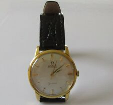 Omega 1970's Gold & Steel Gold Plated Mechanical Geneve Automatic Wrist Watch