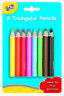 Galt Toys 8 Triangular Pencils For Kids - FREE & FAST DELIVERY