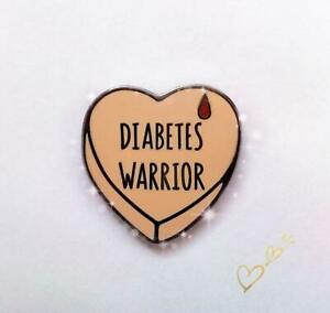 Diabetes Awareness enamel pin (pink)