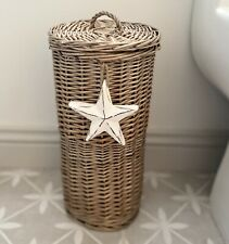 Antique Wash Toilet Roll Holder Stand Bathroom Decoration Handmade Wooden Star