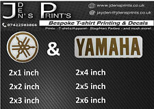 YAMAHA DECAL TUNING FORK STICKER KIT GOLD VINYL  R1 R6 600 1000 YZF THUNDERCAT