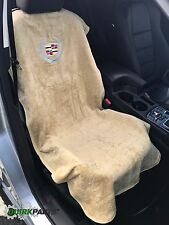 2010-2017 Cadillac Logo Tan Seat Cover Seat Armour Towel New ATS CTS Escalade