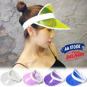 Poker Hat PVC Golf Dance Cap empty top Fashion summer Sun Visor transparent