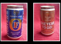 COLLECTABLE AUSTRALIAN ALLOY BEER CAN, FOSTERS SYDNEY OLYMPICS 1 YEAR TO GO