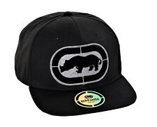 Ecko Unltd Men's Flat Bill Adjustable Snap Back Baseball Hat Black