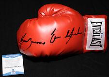 Marco Antonio Barrera and Erik Morales signed boxing glove, Beckett BAS B87444