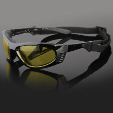 Wind Resistant Sunglasses Sport Motorcycle Riding With Strap Glasses Foam Padded