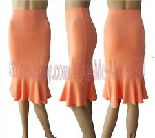 Womens Wear to Work Casual BUSINESS PARTY Ruffle Fish Tail Slim Fit Skirts Dress