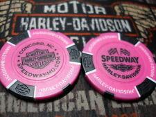 Harley Neon Pink & Black Poker Chip Speedway Harley Davidson Concord, NC